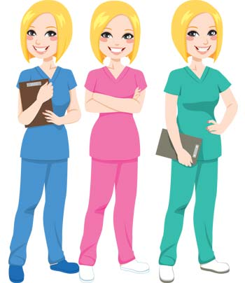 Medical scrubs in every color